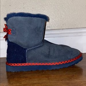 blue and red limited edition ugg boot sz9